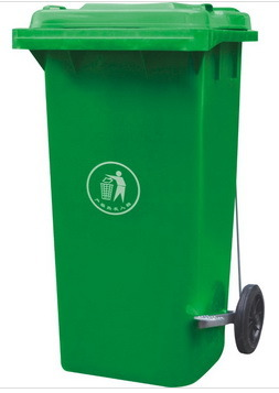 Green Dustbin Plastic (240Lt) with Pedal