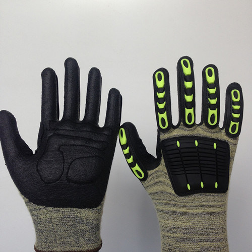 Altrathin Foam Nitrile Coated Kevlar Gloves with Sponge&TPR Sewing