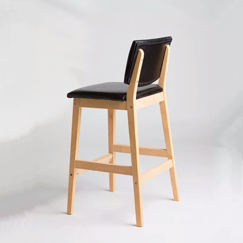Italian Design Bar Furniture Luxury Black Leather Barstool