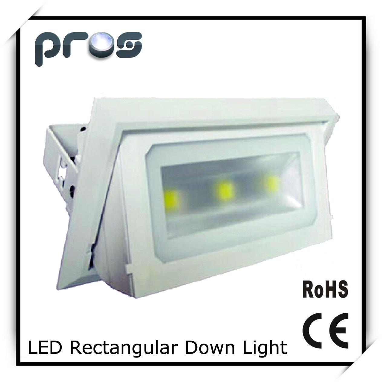 Rectangular LED Downlight Commercial Lighting 3*10W COB