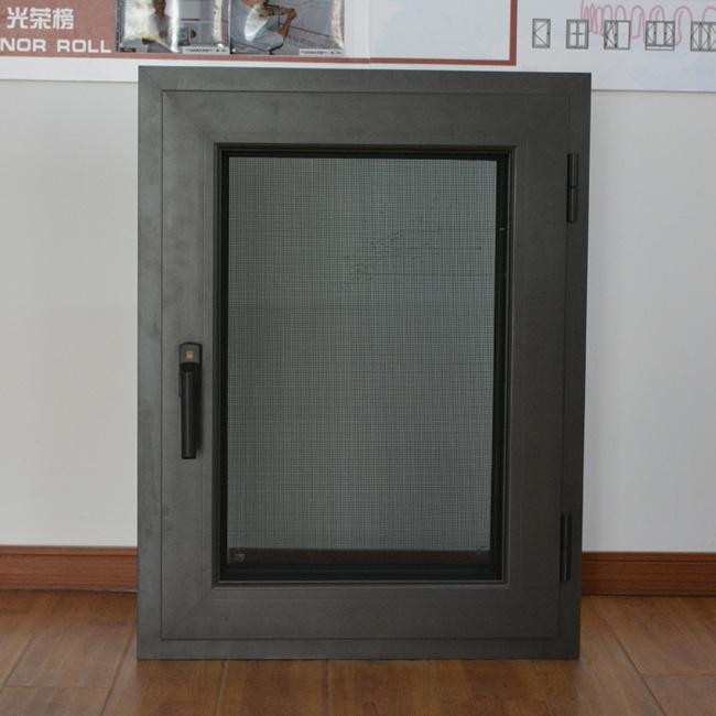 High Quality Thermal Break Aluminum Profile Casement Window with Multi Lock & Screen K03006