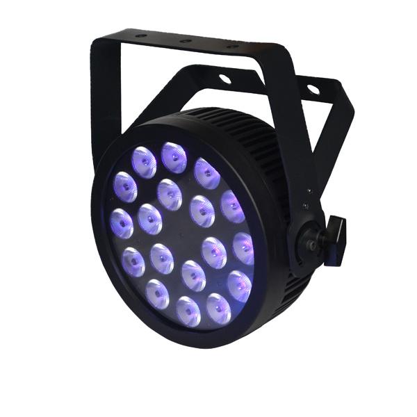 Neutrik Powercon 18X12W RGBWA UV Slime LED PAR Can Stage Light
