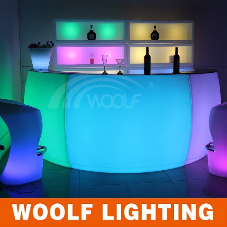 LED Lighting Modern Nightclub Bar Furniture