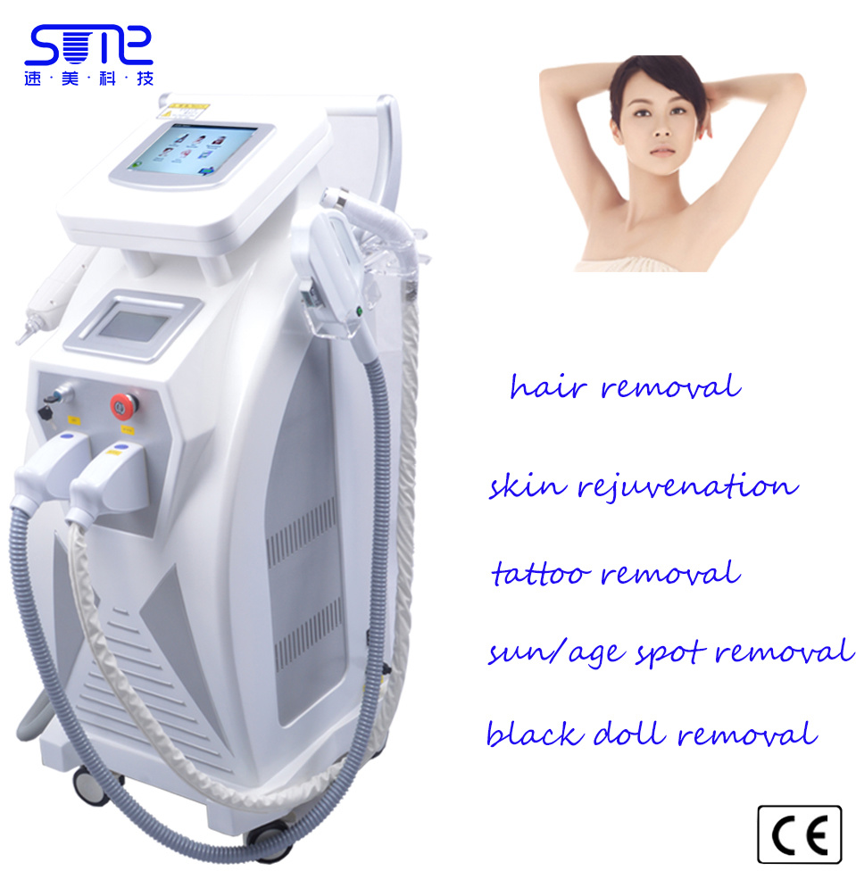 Q Switch Shr/IPL/Elight/ND YAG Laser Device for Hair Removal Machine Tattoo Removal IPL