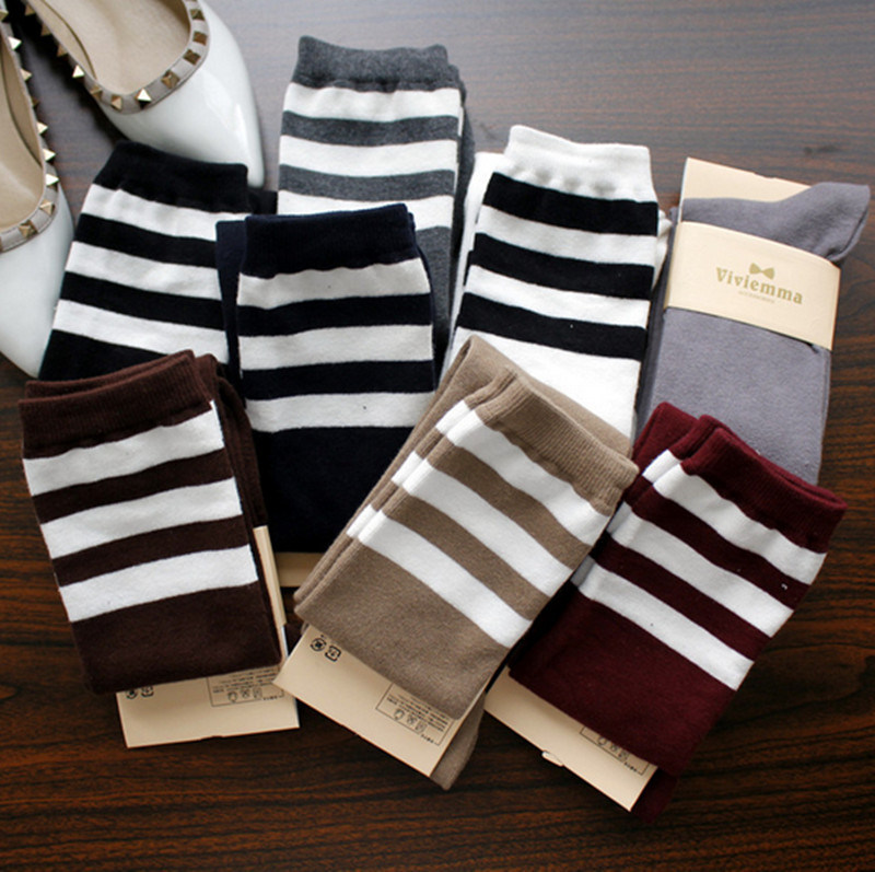 Wholesale High Quality Over Knee Striped Render Long High Women′s Stockings