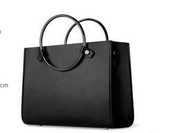 Western Style Shoulder Bag Metal Circle Handle Fashion Handbags (LDO-01625)