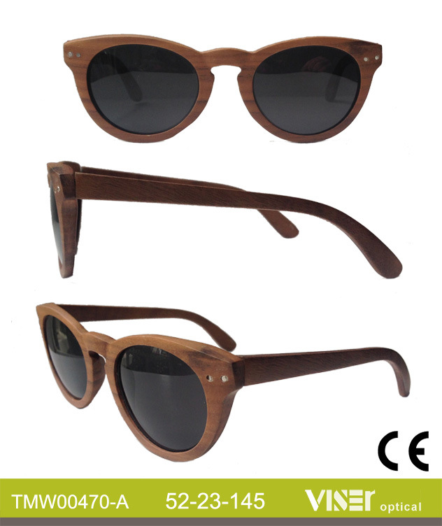 Fashion Wooden Sunglasees with High Quality (470-A)