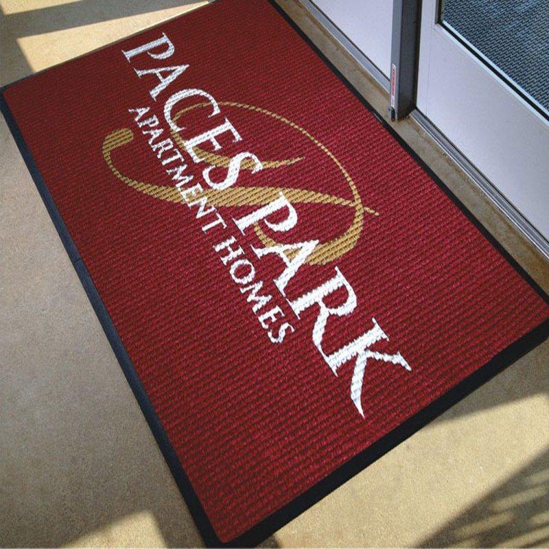Embossed Rubber Printed Logo Custom Promotion Branding Marketing Carpet Welcome Door Floor Mats