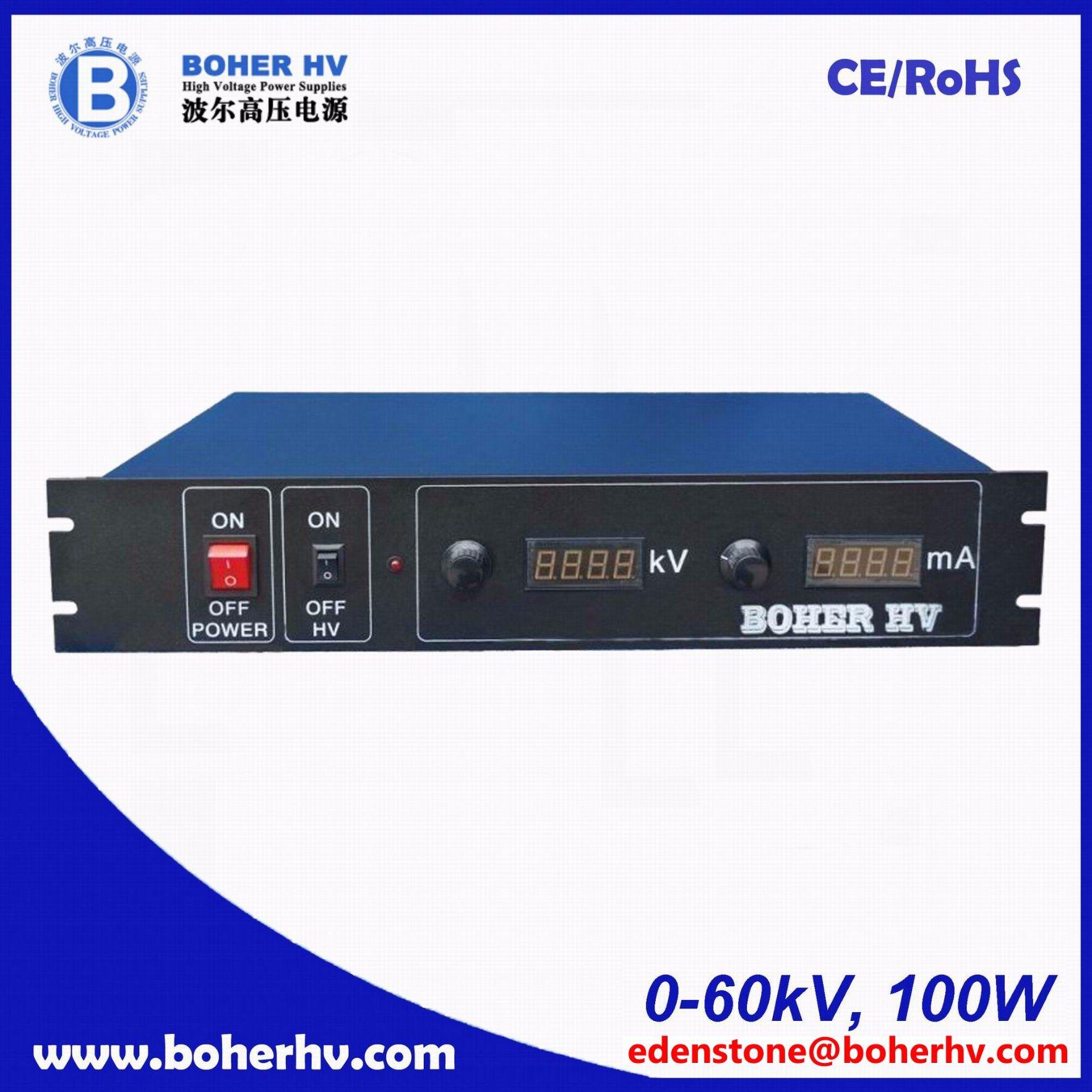 High Voltage power supply 100W 60kV LAS-230VAC-P100-60K-2U