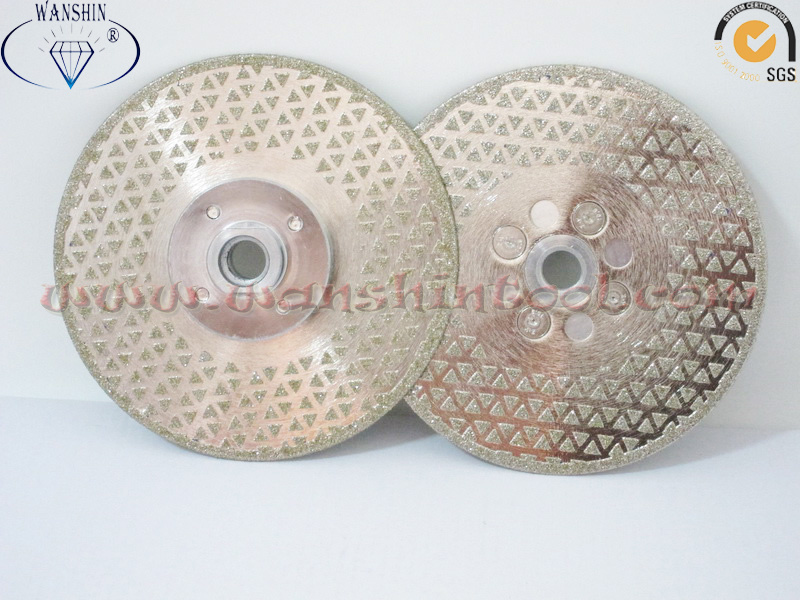 125mm Electroplated Cutting and Grinding Disc for Stone