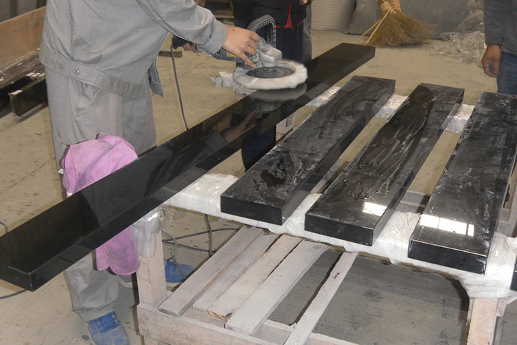 China Top Quality Absolute Pure Black Shanxi Granite for Black TV Background