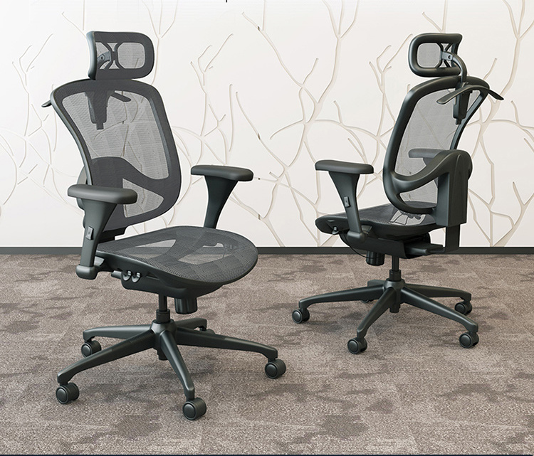High Back Mesh Ergonomic Chair in Home Office