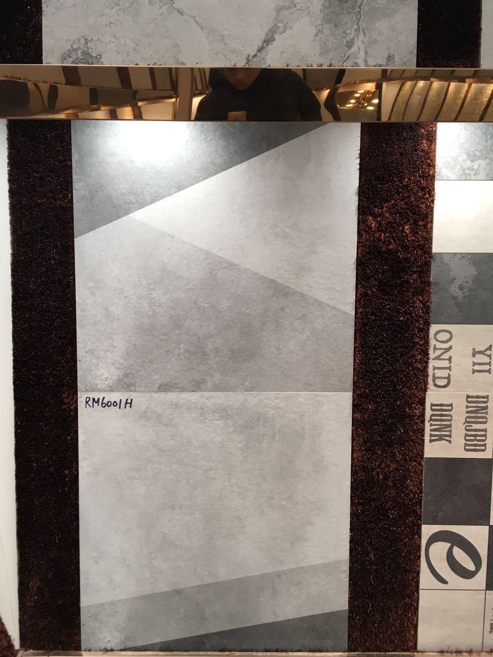 Textile Fabrics Look 600600mm Ink-Jet Non-Slip Bathroom Ceramic Floor Tile