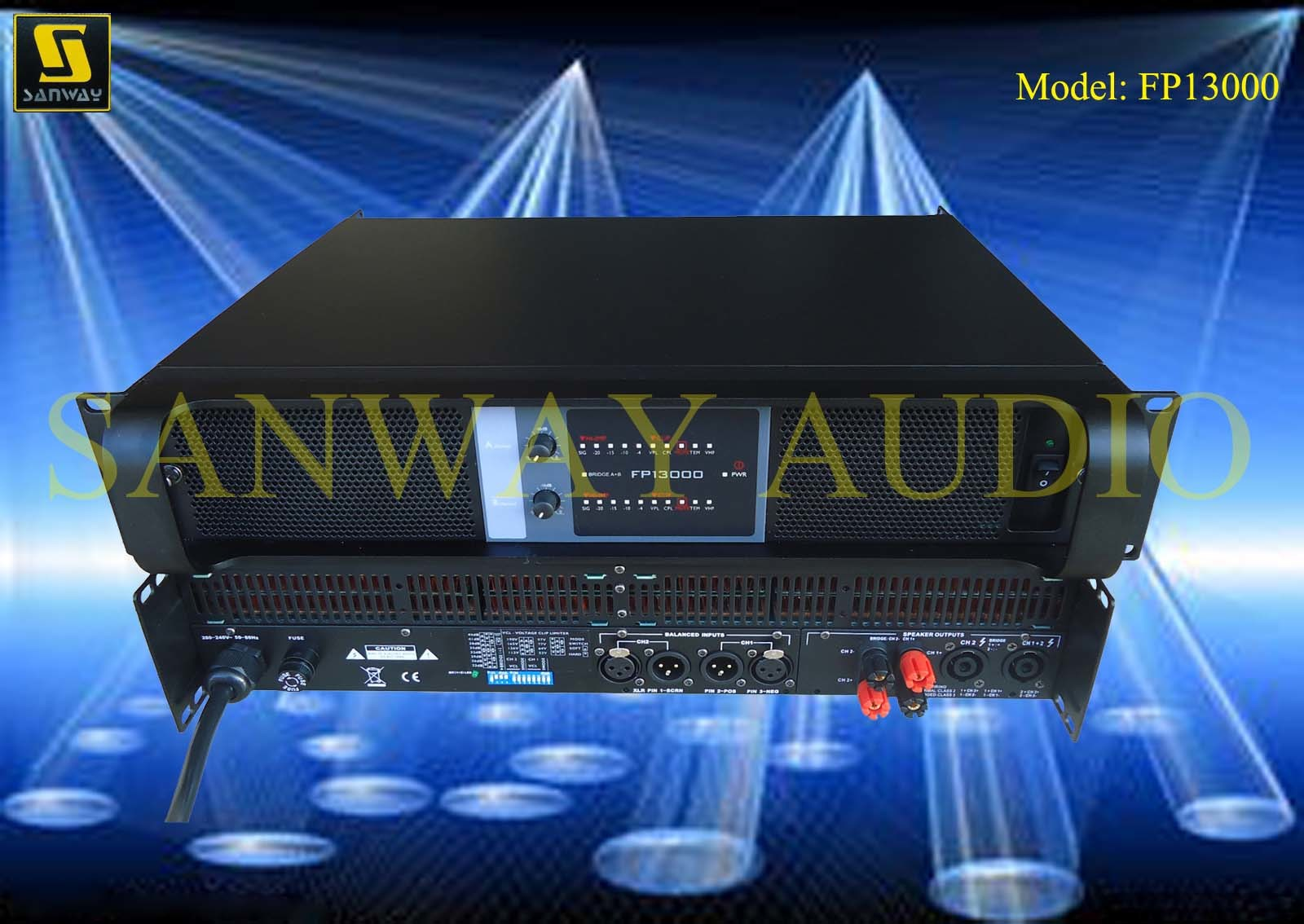Fp13000 PRO Audio Sound Stage Amplifiers