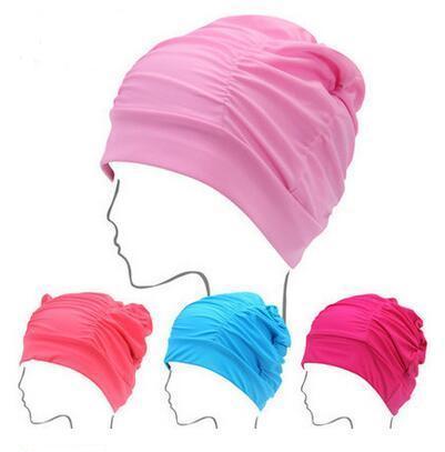Lycra Swimming Cap for Lady Long Hair