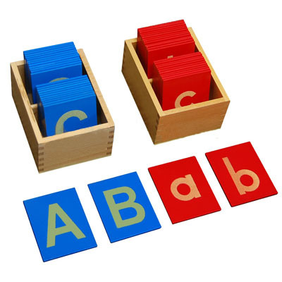 ... Capital Case Sandpaper Letters - China Montessori, Montessori Products
