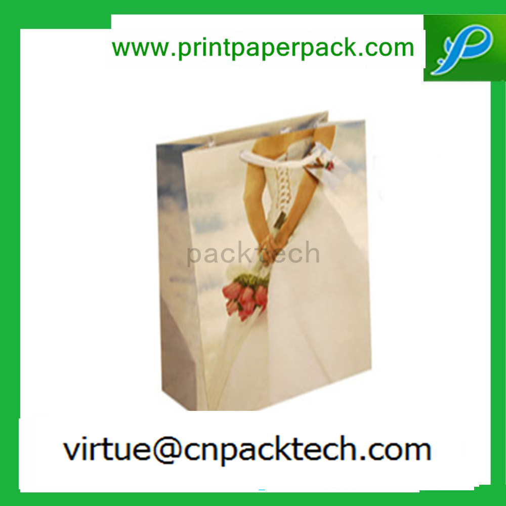 Top Grade Wedding Birthday White Paper Hand Gift Bag