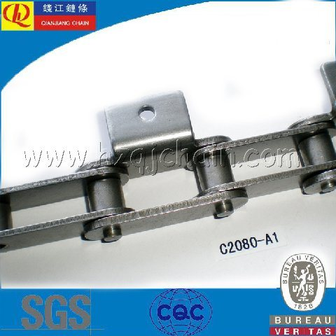 Double Pitch Conveyor Chain with K1 Attachments