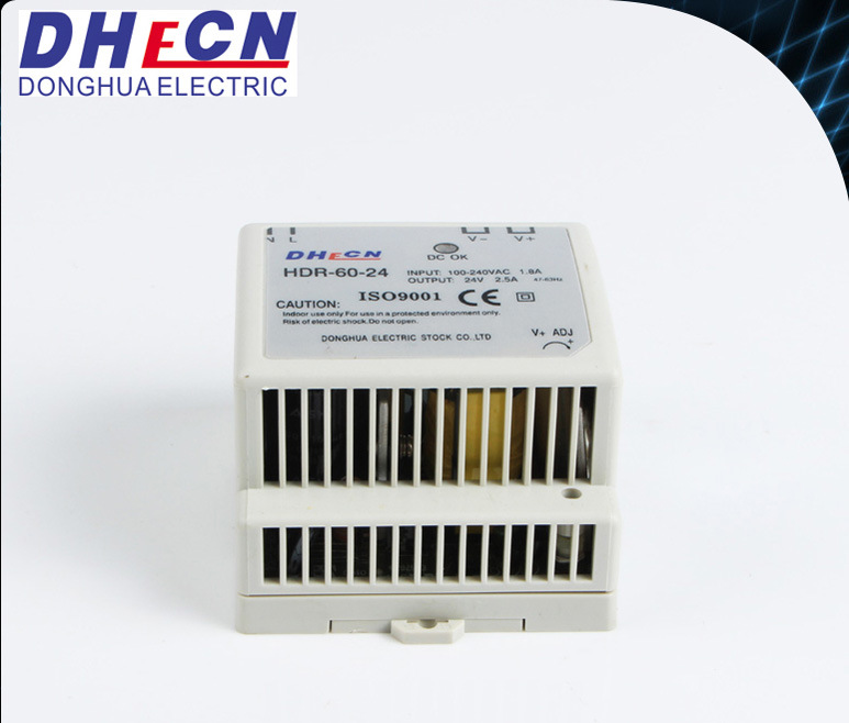 60W Single Output DIN Rail Power Supply