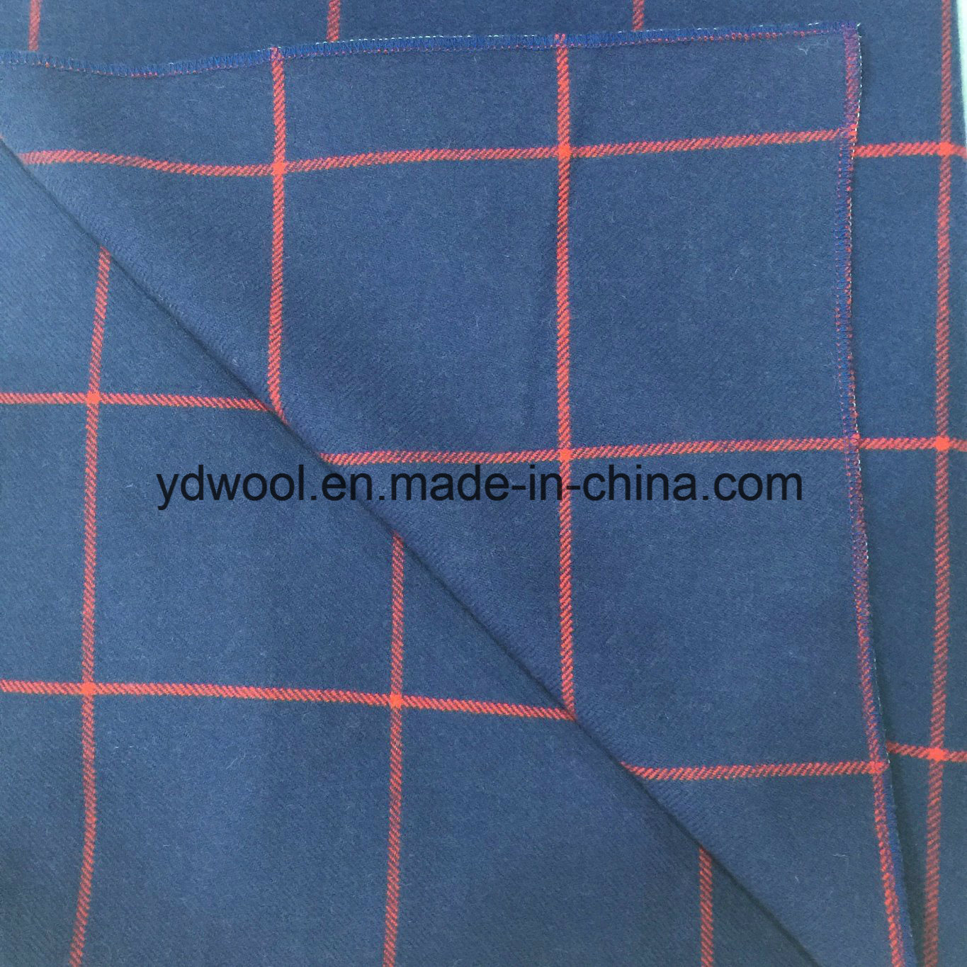 Twill Check Wool Fabric for Overcoat