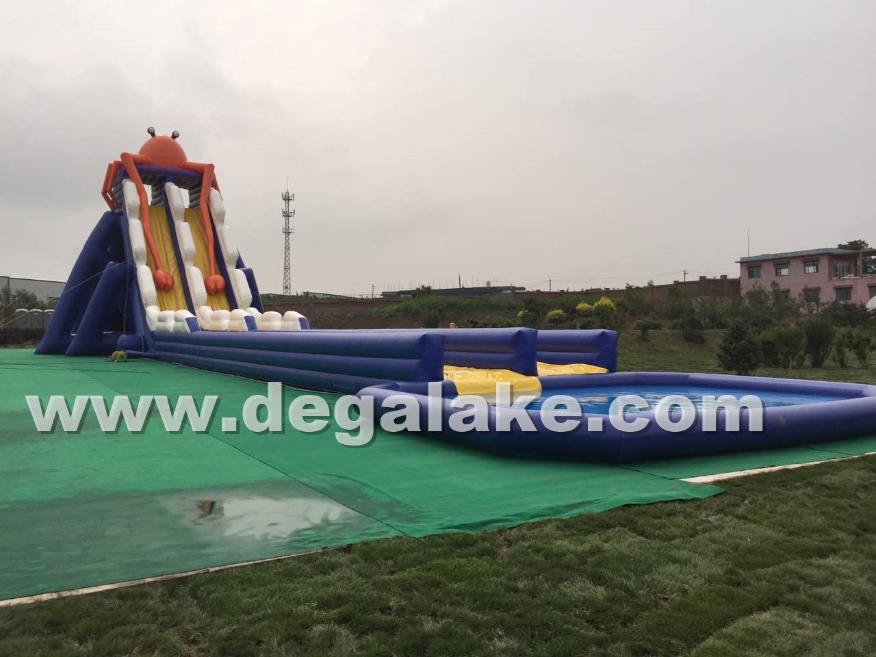 Inflatable Water Park Aqua Water Slide with Swimming Pool
