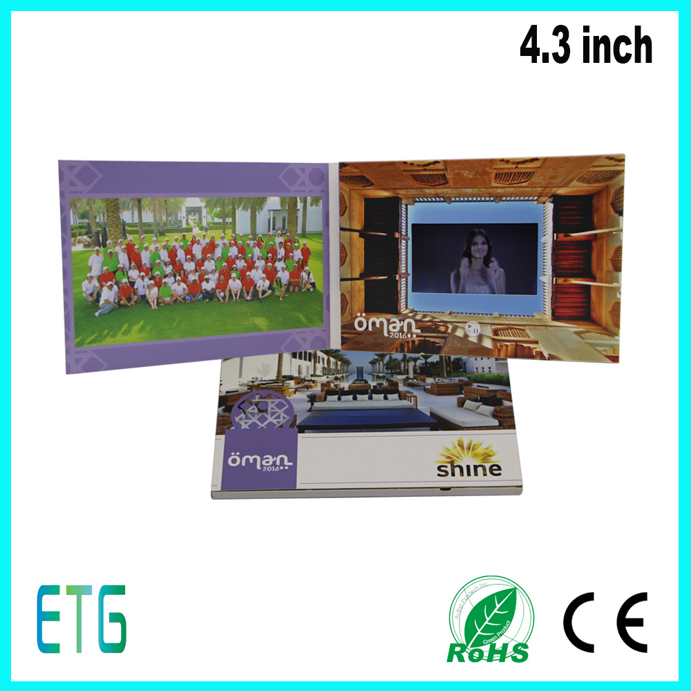 "2.4""2.8"" 4.3"" 5""7""10.1""Inch IPS Screen Advertising Video Greeting Card"