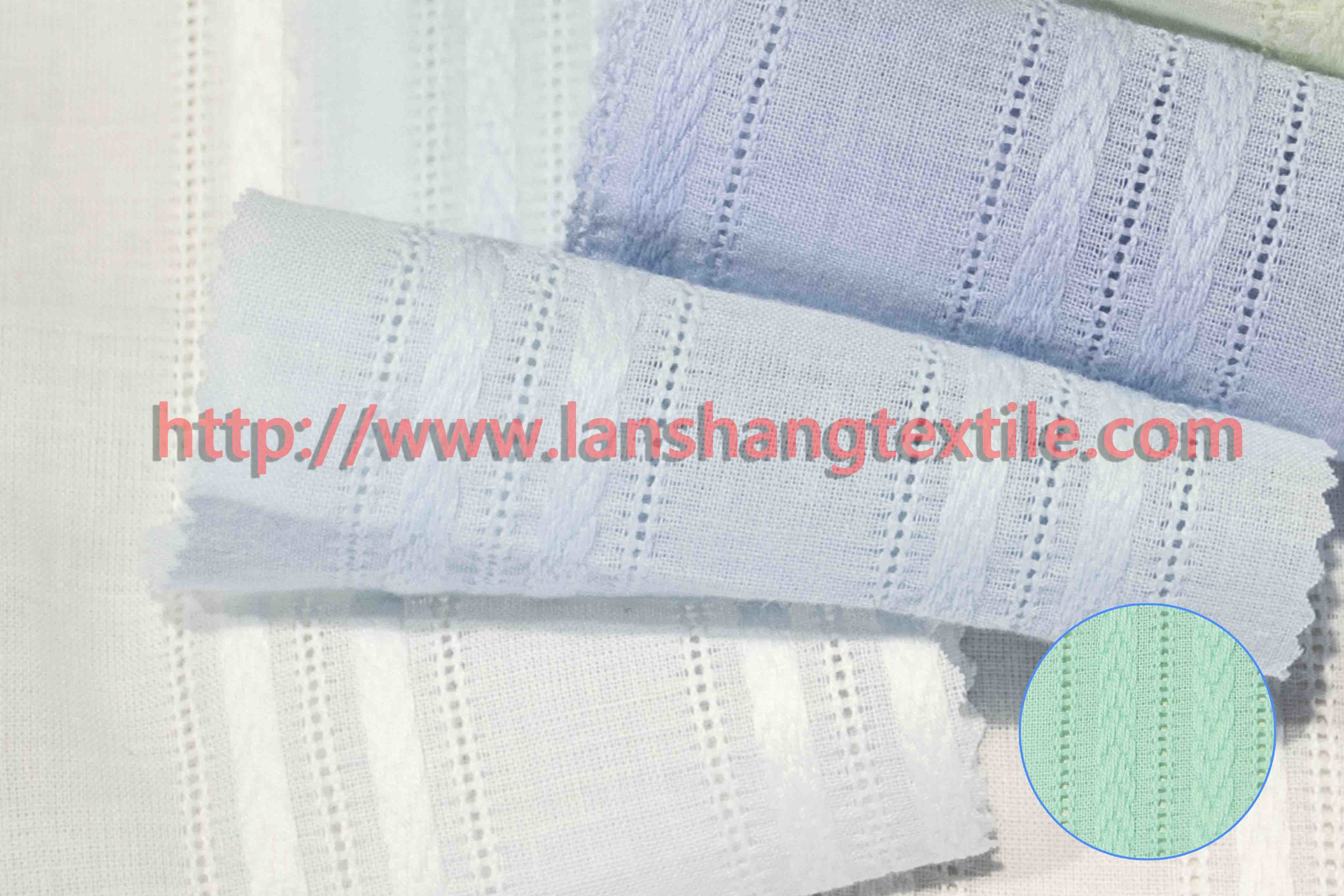 Dyed Jacquard Cotton Fabric for Woman Dress Shirt Garment Home Textile