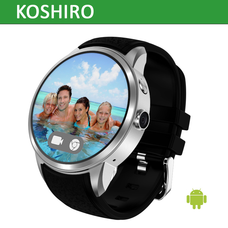 3G Android 5.1 OS Smart Watch with Heart Rate Support SIM Card
