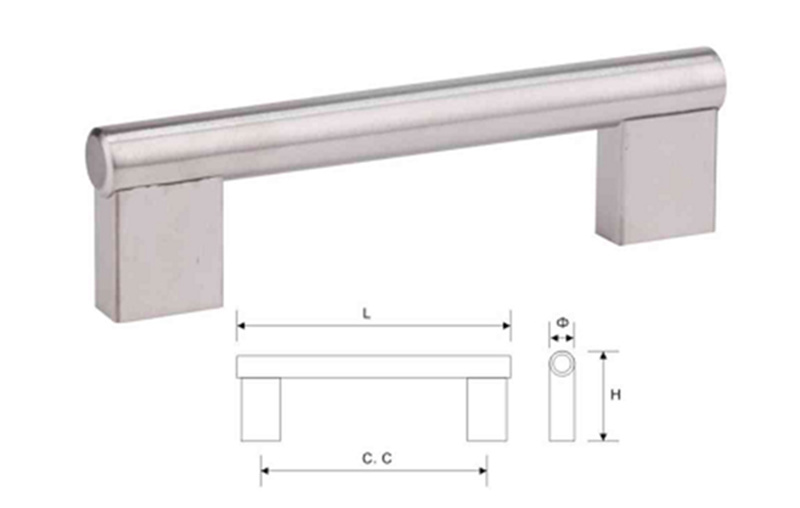 Stainless Steel Furniture Cabinet Hardware Door Pull Handle (U 003)