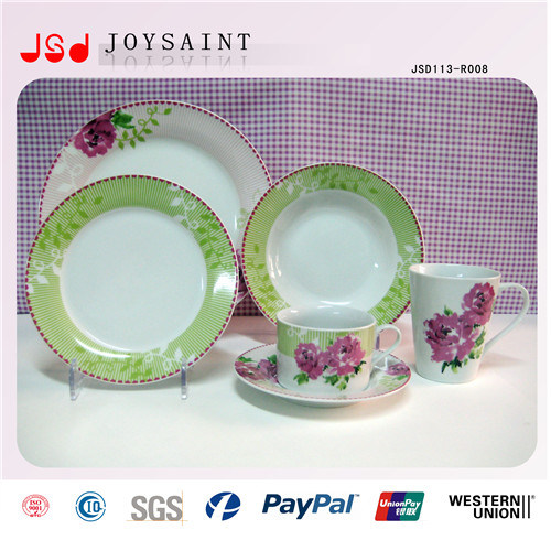 Customized Design Stocked Ceramic Dinnerware Sets Porcelain Dinner Set