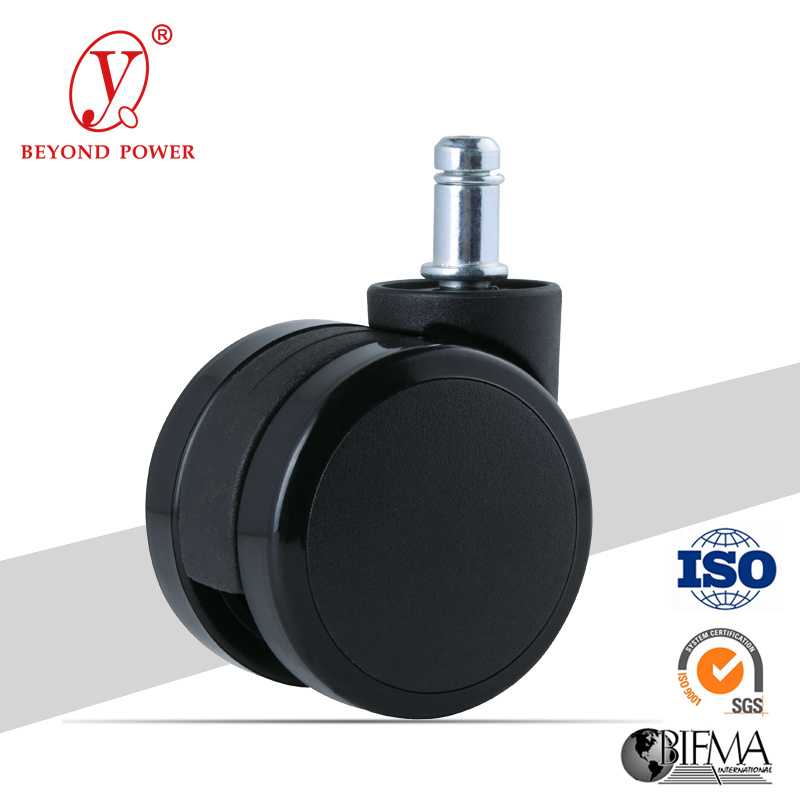60mm PVC Office Chair Wheel Castor   Casters Furniture Caster Wheel Black Chair Caster