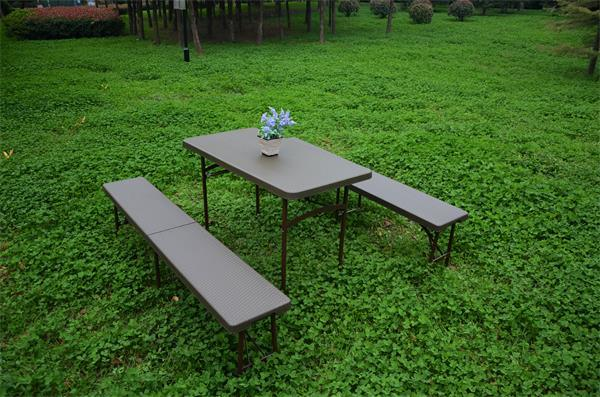 6FT Folding Bench with Rattan Design for Camping Outdoor Used