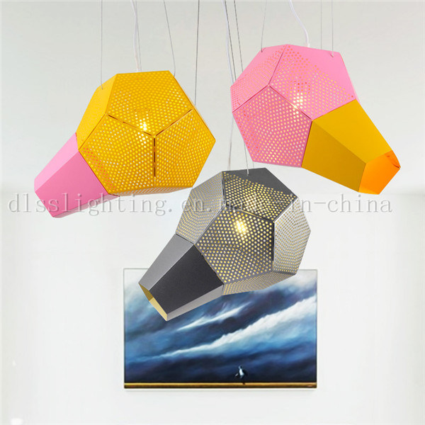 Modern Creative Design Aluminum Pink&Yellow Pendant Lamps For Coffee Shop Lighting