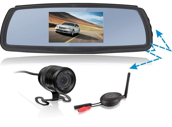 4.3-Inch 2.4G Wireless Car Monitor with Wireless Backup Camera Reversing Set for Car, Taxi