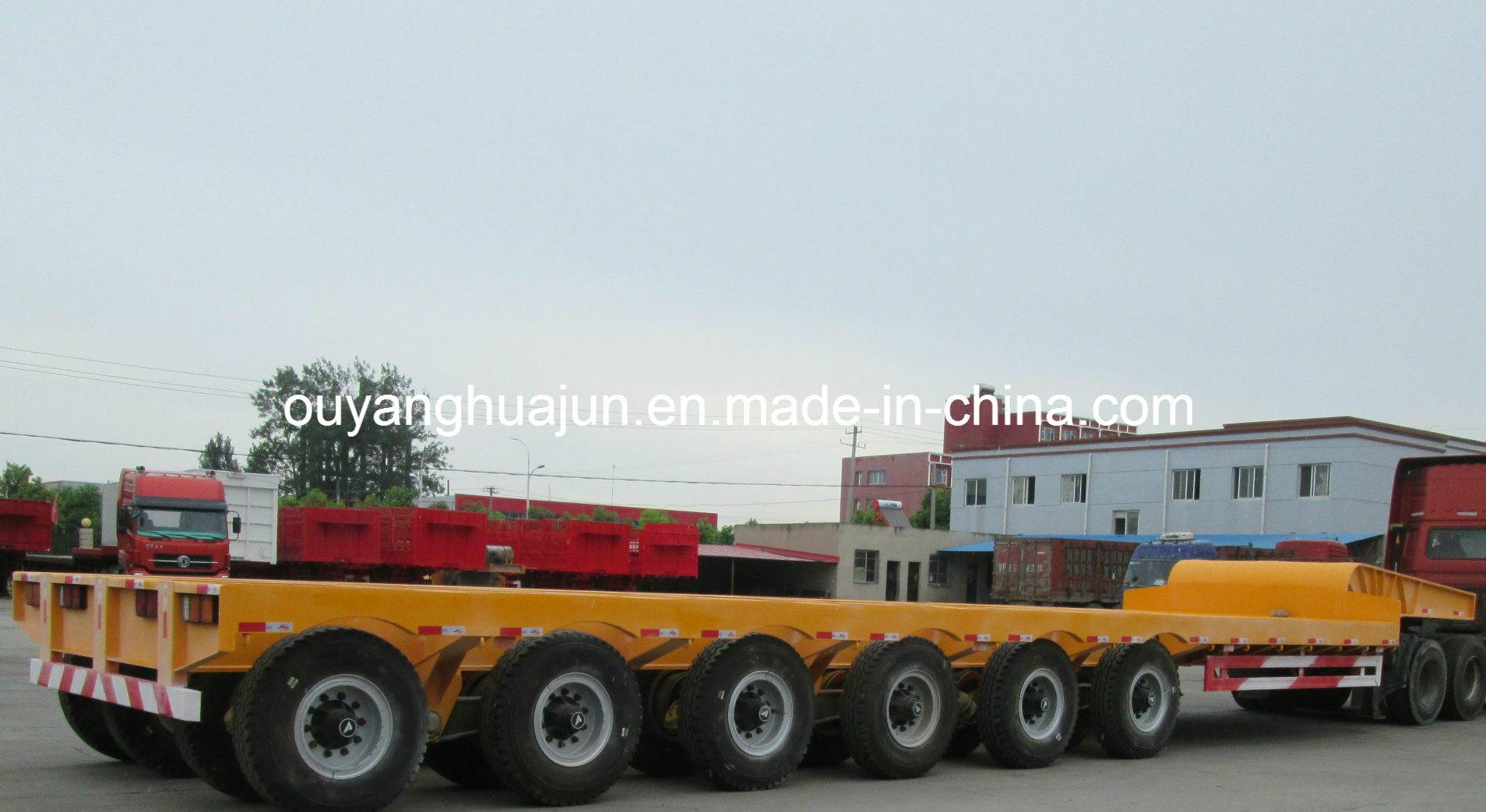 2 Axles Super Low Bed Flatbed Semitrailer