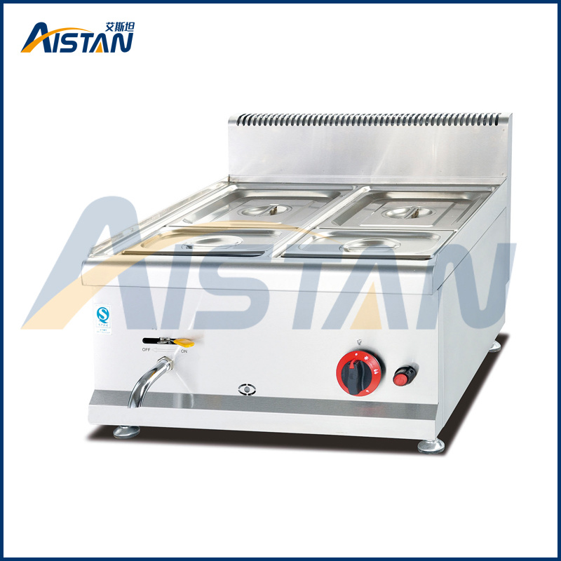 Gh584 Counter Top Gas Bain Marie with All Stainless Steel