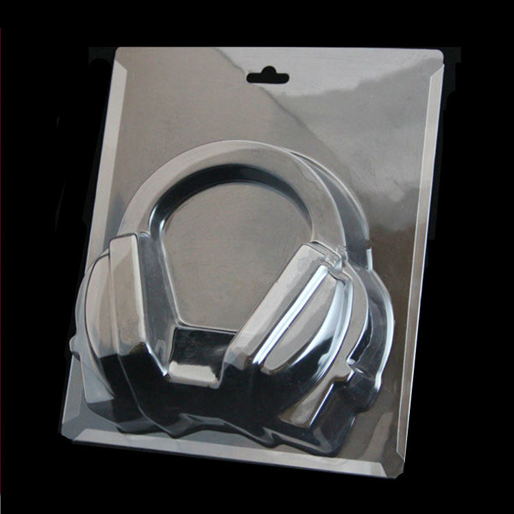 factory OEM clear electronic product card blister earphone blister packing(PVC packing)