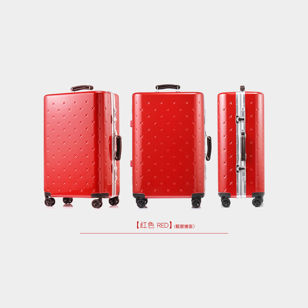 Red Color Fashion ABS Luggage and Trolley Made in China