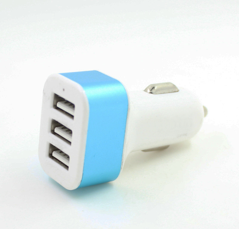 Portable Triple USB Car Charger Adapter with 5V 5.2A