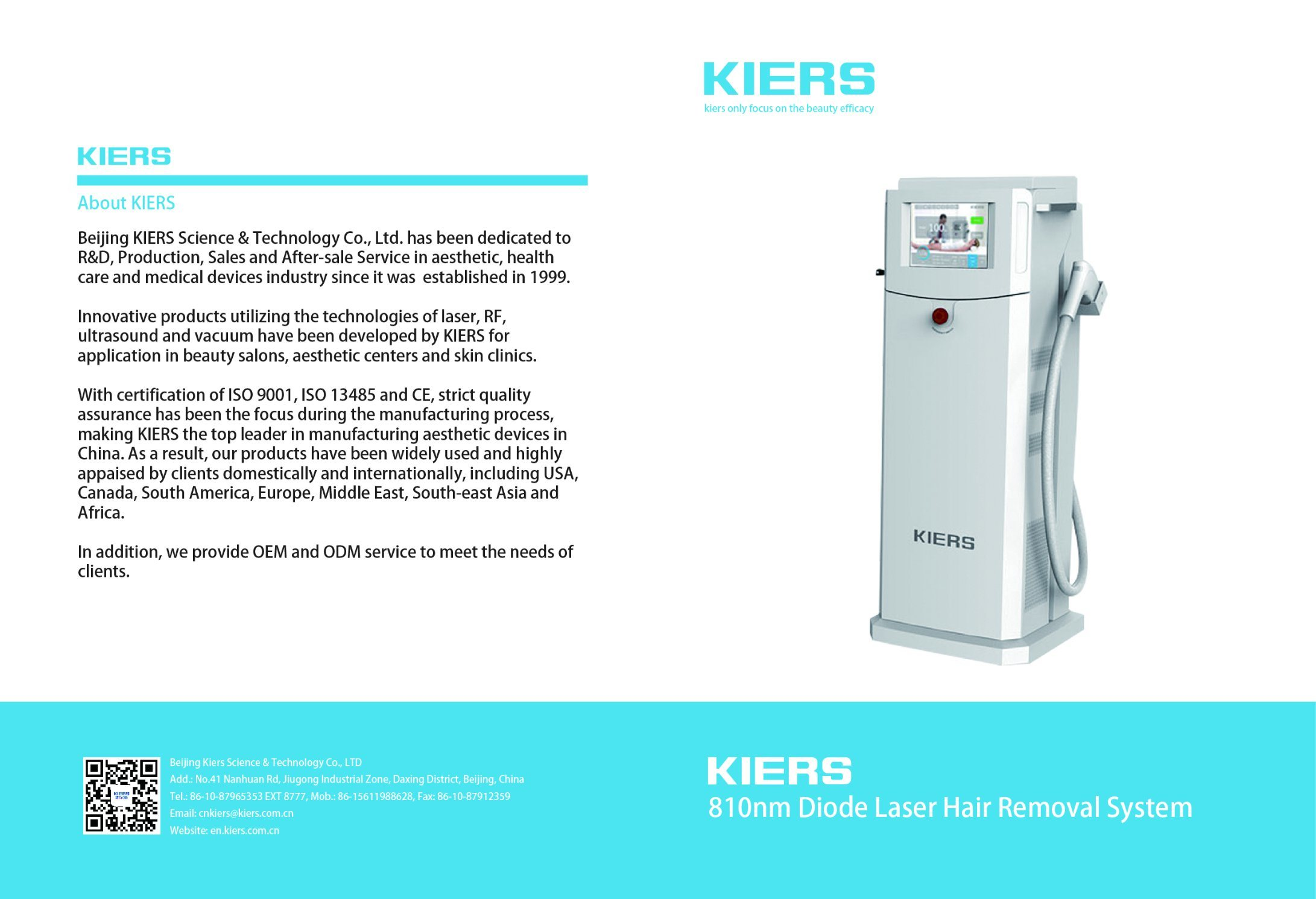 808/810 Diode Laser Hair Removal System