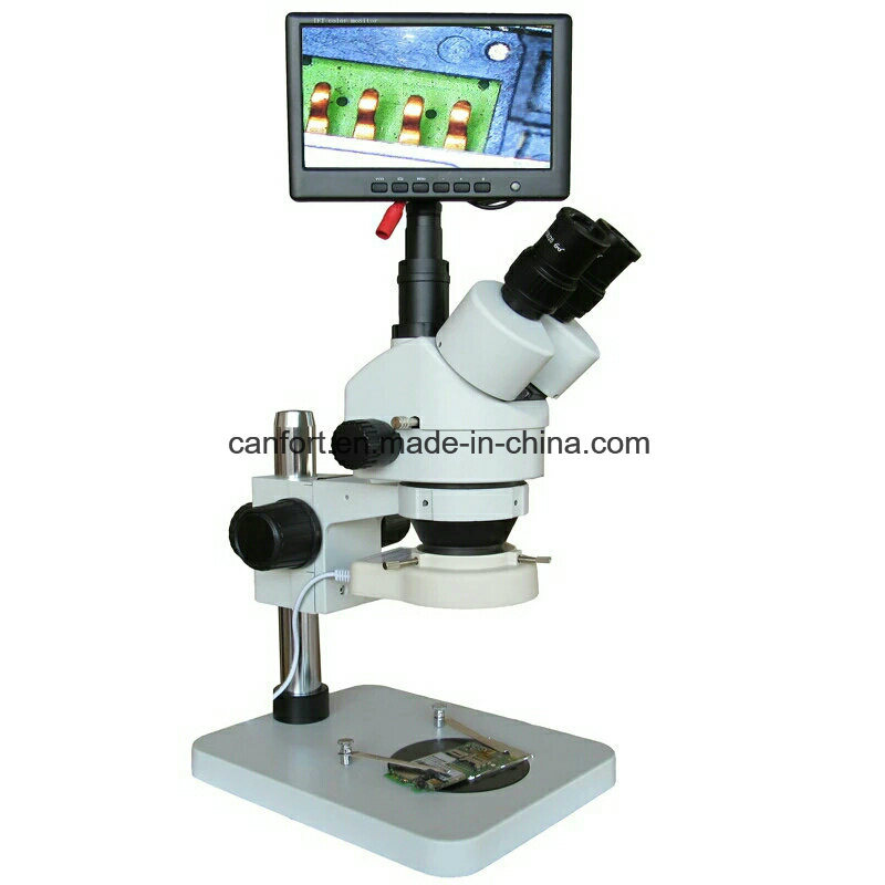 Stereo Microscope Szm0745 with CCD and LCD for PCB/Inspection with Best Price