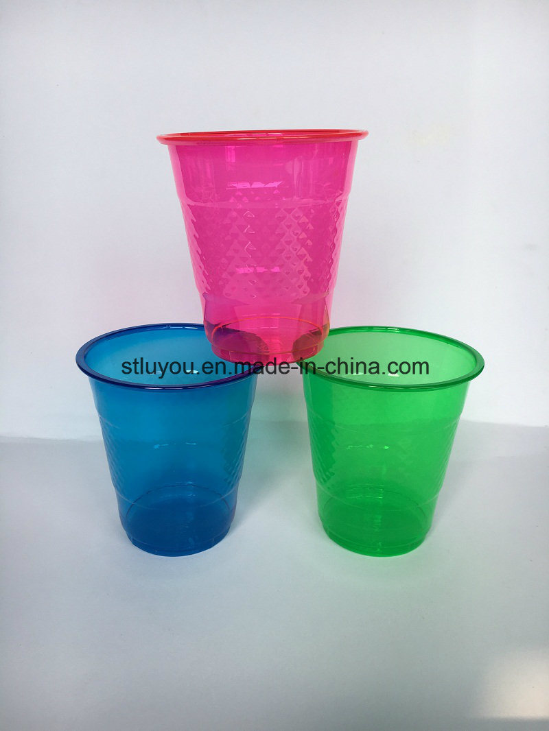 Disposable Pet Neon Color Plastic Party Cup