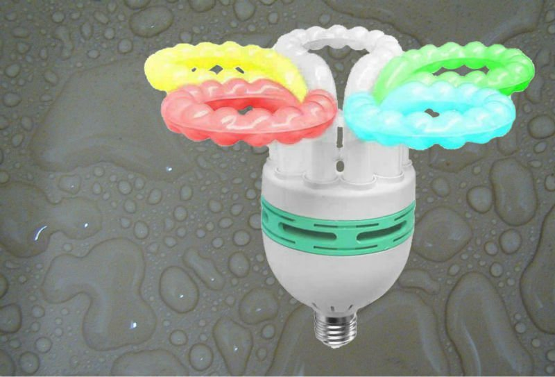 125W 150W Flower Halogen/Mixed/Tri-Color Energy Saving Lamps 7500k 220-240V CFL Bulbs