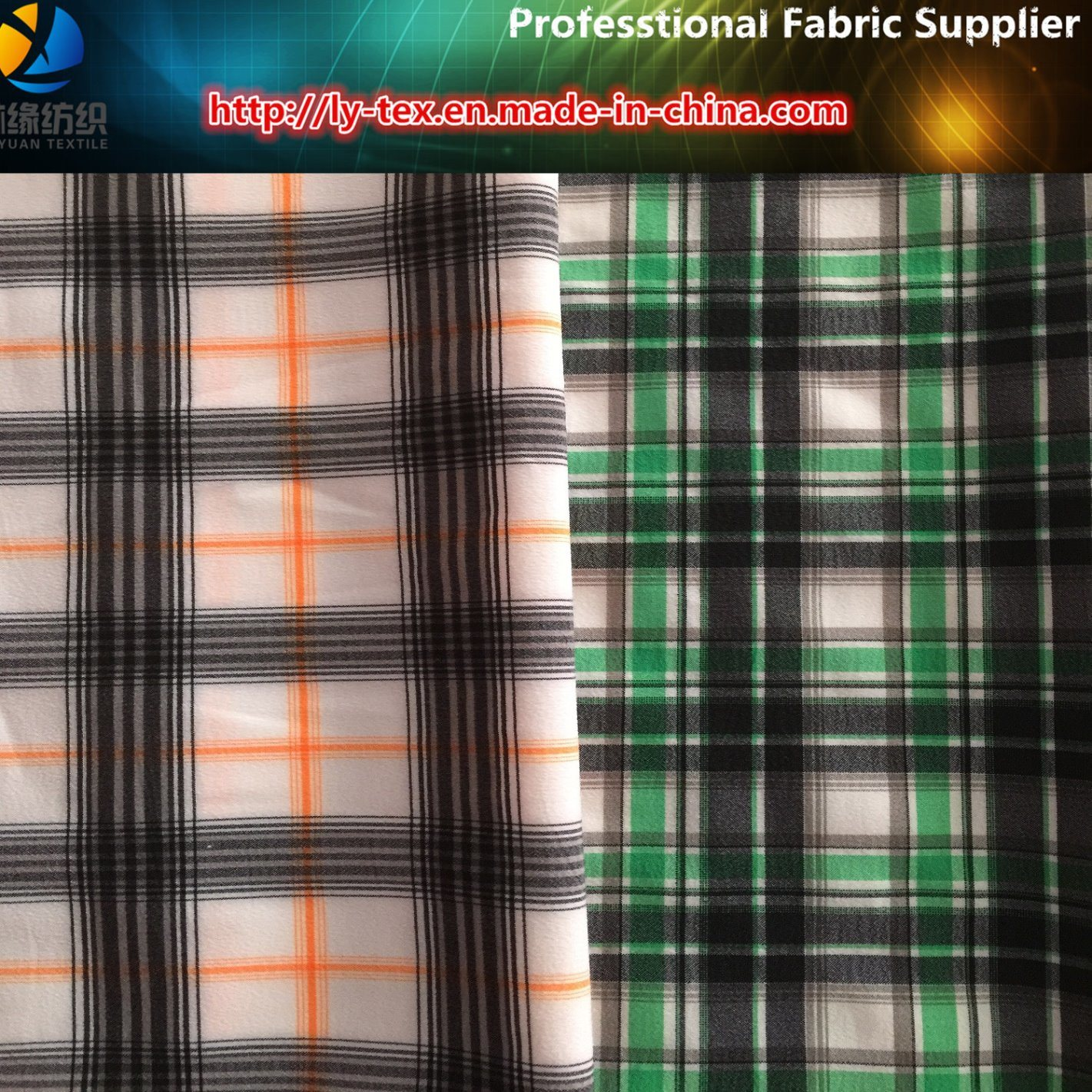 Polyester Yarn Dyed Shirting Fabric with Spandex for Golf Garment (YD1077)