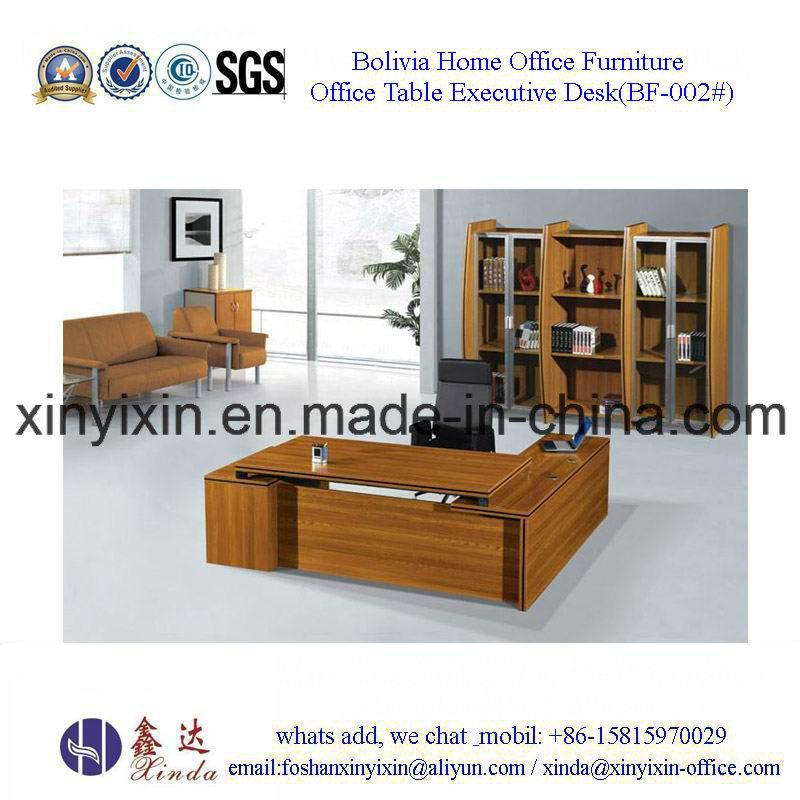 Foshan Factory Wooden Furniture Melamine Executive Office Desk (BF-002#)