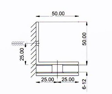 Shh-803 Stainless Steel Furniture Hardeare Glass Bracket