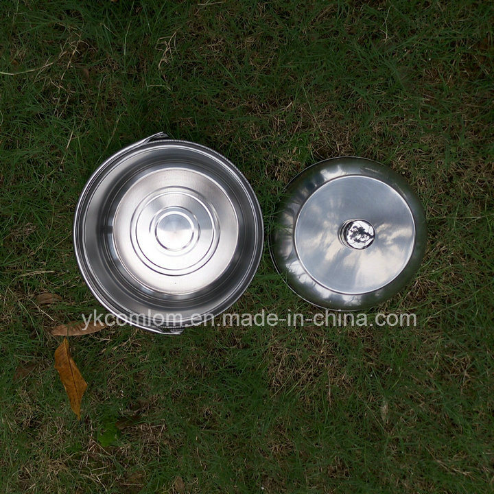 4 Pieces One in One Stainless steel Outdoor Cookware Set / Camping Hanging Pot Set