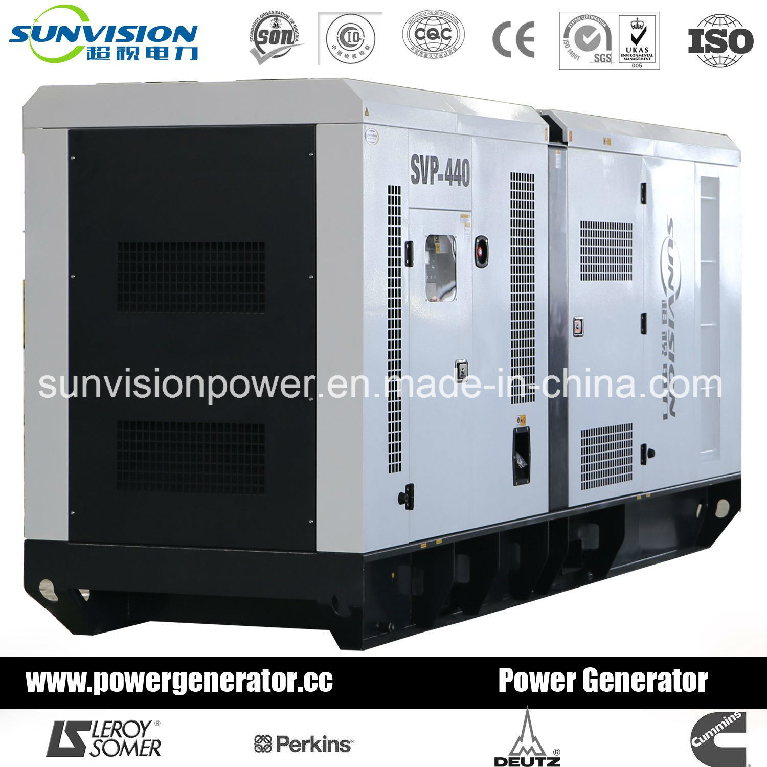 with 500kVA Perkins Engine Generator with Super Silent Enclosure