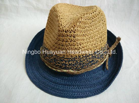 100% Toyo Crocheted Paper Straw Fedora Straw Hat