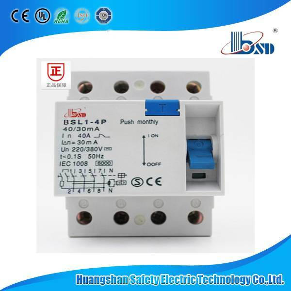 CE Approved F364 RCCB (Residual Current Circuit Breaker) , 4p